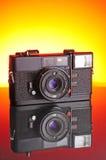 Câmera velha da película Imagem de Stock