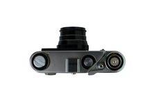 A câmera velha do filme do rangefinder é, isolado em um fundo branco Fotografia de Stock Royalty Free