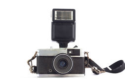 Câmera velha do filme isolada Fotografia de Stock