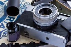 Câmera velha do rangefinder Fotografia de Stock Royalty Free