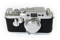 Câmera velha do Rangefinder com tampa de lente Foto de Stock