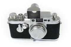 Câmera velha do rangefinder isolada Imagens de Stock
