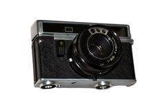 Câmera velha em um fundo branco foto de stock