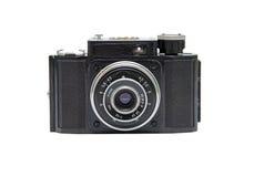 Câmera velha isolada em um fundo branco. fotografia de stock