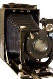 Câmera velha isolada no branco Fotos de Stock Royalty Free