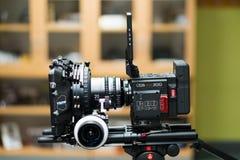 Câmera VERMELHA da epopeia-W do cinema de Digitas Imagem de Stock