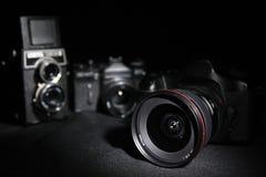 Câmeras das gerações Imagem de Stock