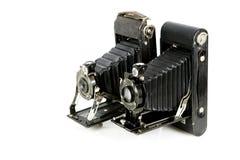 Câmeras de dobradura do vintage Foto de Stock Royalty Free