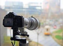 Câmeras de SLR Foto de Stock
