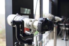 Câmeras de SLR Imagens de Stock