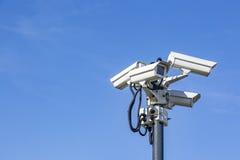 Câmeras do CCTV em Polo Imagens de Stock Royalty Free