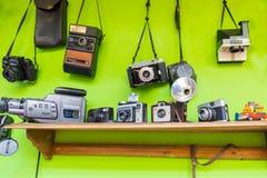 Câmeras e câmaras de vídeo do vintage de Bogotá imagem de stock