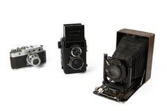 Câmeras retros do filme Fotografia de Stock Royalty Free