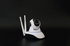 Câmeras sem fio do cctv sobre o fundo preto Imagem de Stock Royalty Free