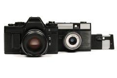 Câmeras soviéticas Fotografia de Stock