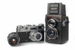 Câmeras velhas Fotografia de Stock