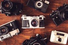 Câmeras velhas foto de stock