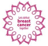 Câncer cor-de-rosa da derrota da fita ilustração royalty free