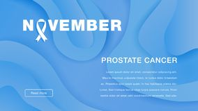 Câncer da próstata novembro da conscientização Conceito do dia do câncer da próstata do mundo ilustração do vetor