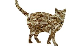 Cânhamo industrial Hurd Feline Cat ilustração do vetor