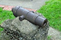 cânone de bronze de 3 polegadas Fotografia de Stock