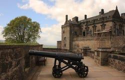 Cânone do castelo de Stirling Fotos de Stock Royalty Free