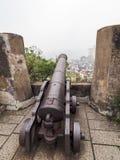 Cânone velho no forte de Macau Fotos de Stock