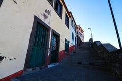 Câmara DE Lobos op de zuidenkust van het Eiland Madera, Portugal royalty-vrije stock afbeelding