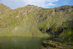 Balea lake in Romania. stock photos