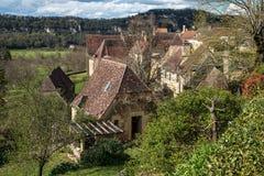 Cénac, pueblo francés en el valle de Dordoña Imagen de archivo libre de regalías
