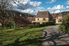 Cénac, villaggio francese in valle della Dordogna immagine stock libera da diritti