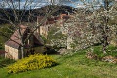 Cénac, villaggio francese in valle della Dordogna fotografia stock libera da diritti