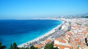 CÃ'te d'Azur στη Νίκαια στοκ φωτογραφία