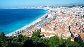 CÃ'te d'Azur i Nice Arkivfoton