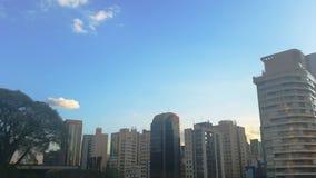 Céu na Cidade de São Paulo Royaltyfri Bild