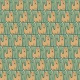 Cães abstratos dos gatos do teste padrão da repetição Foto de Stock Royalty Free