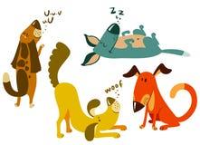 Cães ajustados ilustração stock