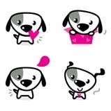 Cães bonitos do Valentim ajustados Fotografia de Stock