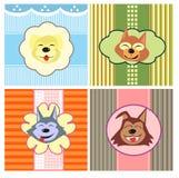 Cães bonitos dos desenhos animados Fotos de Stock Royalty Free