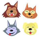 Cães bonitos dos desenhos animados Foto de Stock Royalty Free
