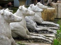 Cães de pedra imagem de stock royalty free
