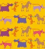 Cães de uma ligação ilustração do vetor