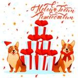 Cães do ano novo Fotografia de Stock Royalty Free