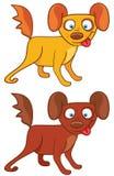 Cães dos desenhos animados Fotos de Stock