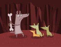 Cães na floresta ilustração stock