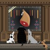 Cães na rua Imagem de Stock Royalty Free