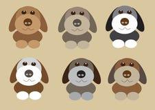 Cães pequenos bonitos Fotos de Stock