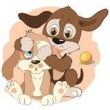 Cães pequenos dos desenhos animados Imagem de Stock