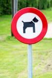 Cães permitidos o sinal Foto de Stock Royalty Free