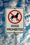Cães proibidos Imagens de Stock Royalty Free